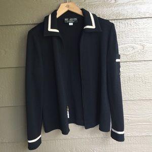 St. John collection nautical theme knitted blazer